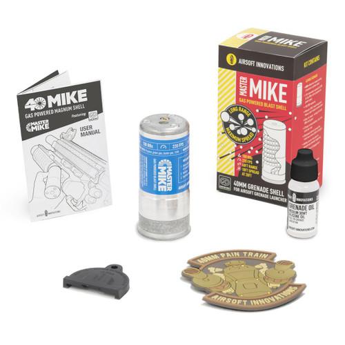 Airsoft Innovations Master Mike 40mm Green Gas Shell BB Grenade  V150610
