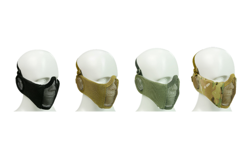 Bravo V4 Strike Steel Mesh Mask w/ Mesh Ear Protection