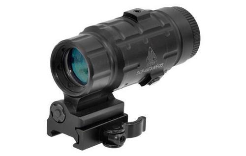 UTG 3X Magnifier w/ Flip-to-side QD Mount, W/E Adjustable  SCP-MF3WEQS