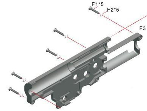 ARES Stoner LMG Gearbox Shell, Right  F3