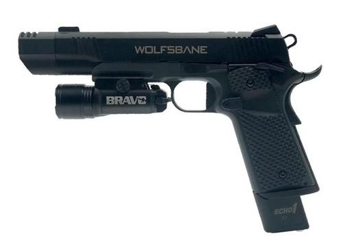 Echo1 Wolfsbane M1911 GBB Pistol w/ Bravo STL800 Tac Light  JP-127 + STL800