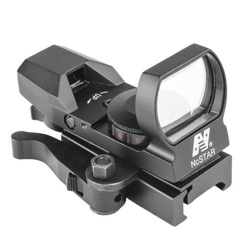 NcStar Red & Green Reflex Sight w/ 4 Reticles and QR Mount, Black  D4RGBQ