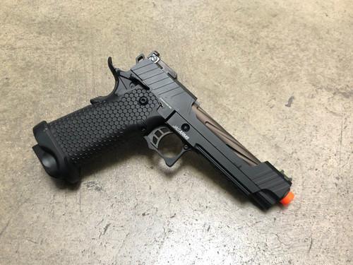JAG Arms GMX-1 GBB Pistol, Bronze Barrel/Black Slide