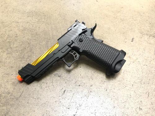 JAG Arms GMX-1 GBB Pistol, Gold Barrel/Black Slide