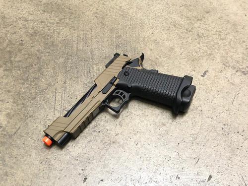 JAG Arms GMX-1 GBB Pistol, Tan Slide/Black Barrel
