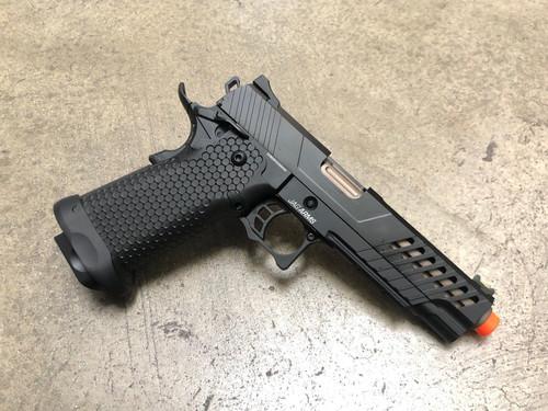 JAG Arms GMX-2 GBB Pistol, Bronze Barrel/Black Slide