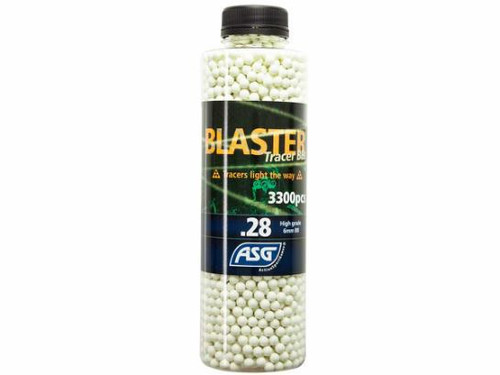 ASG Blaster TRACER .28g x 3300rnd Bottle, Green  19408
