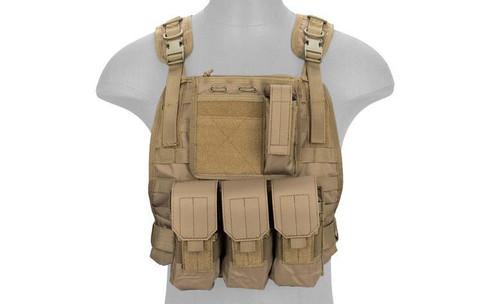 Lancer Tactical Molle Plate Carrier Vest w/ Pouches  CA-301