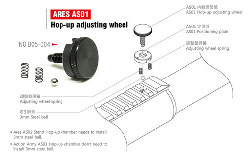 Action Army ARES AS01 Striker Hop Up Adjustment Wheel  B05-004