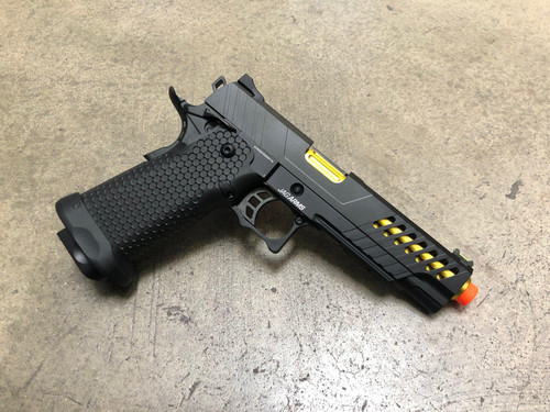 JAG Arms GMX-2 GBB Pistol, Gold Barrel/Black Slide