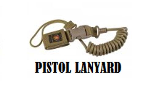 USMC Tactical Pistol Lanyard, Tan