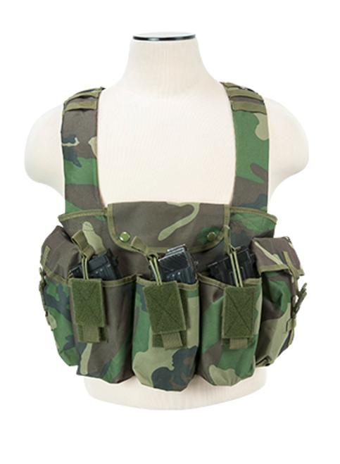 NcStar 6 Pocket AK/AR Check Rig, Woodland     CVAKCR2921WC