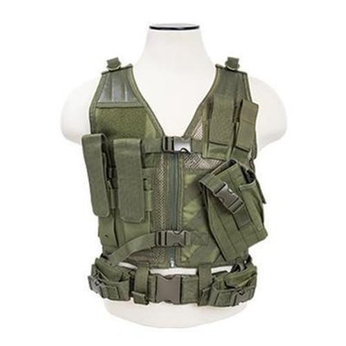 NcStar Tactical Crossdraw Vest, OD, X-Small-Small  CTVC2916G