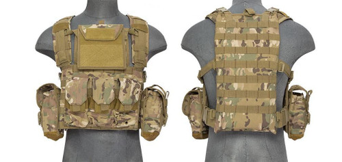 Lancer Tactical Modular Molle Chest Rig w/ Pouches  CA-307