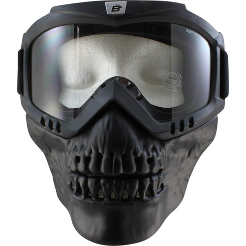 Birdz Skullbird Goggle w/ Attached/Removable Vented Lower Mask *Excellent Peripheral Vision*
