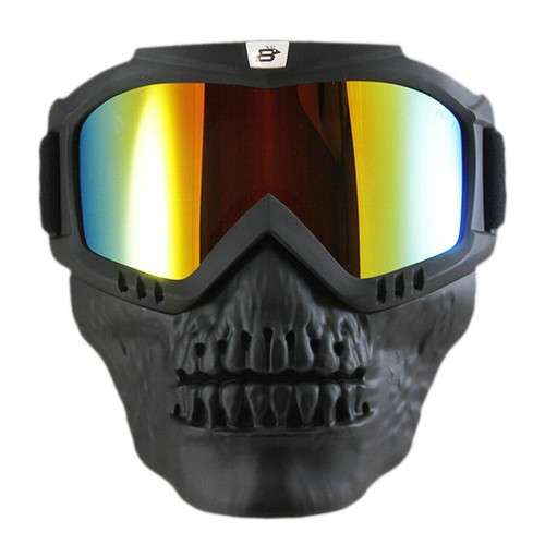 Birdz Skullbird ReflecTech Goggle Lens w/ Attached/Removable Vented Lower Mask *Excellent Peripheral Vision*