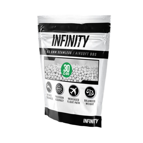 Valken Infinity BIO .30g x 3300rnd Bag, White  98431