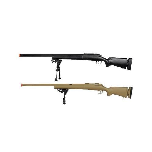 Echo1 M28 Gen2 Bolt Action Sniper Rifle w/ Metal Bi-Pod, Barrel Bushing and Flutted Barrel