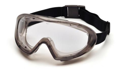 Pyramex Capstone Full Seal Anti-Fog, Dual Lens, Ballistic Goggle (fits most glasses compatible)