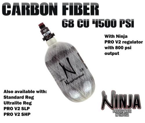 Ninja 68/4.5k Grey Carbon Fiber Tank w/ Standard Reg     NINJAGREY68D