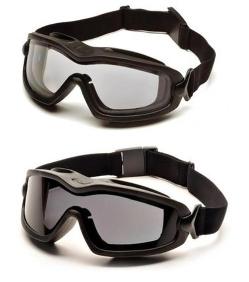 Pyramex V2G-Plus Full Seal Anti-Fog, Dual Lens, Ballistic & ANSI Rated Goggles (medium)