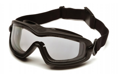 Pyramex V2G-Plus Full Seal Anti-Fog, Dual Lens, Ballistic & ANSI Rated Goggles (medium)