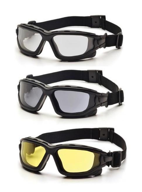 Pyramex I-Force Full Seal, Anti-Fog, Dual Lens, Ballistic & ANSI Rated Goggle