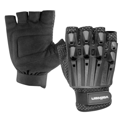 Valken Alpha Half Finger Armored Plastic Back Gloves