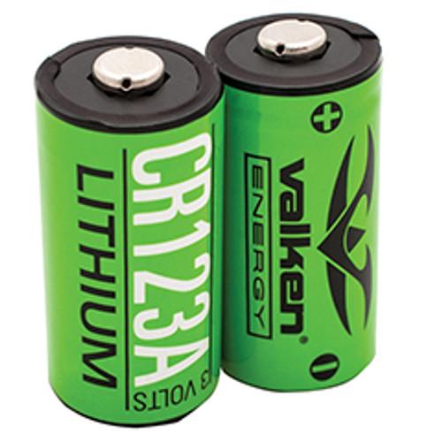 Valken CR123A Lithium 3v Optic Battery, 2pk  48252