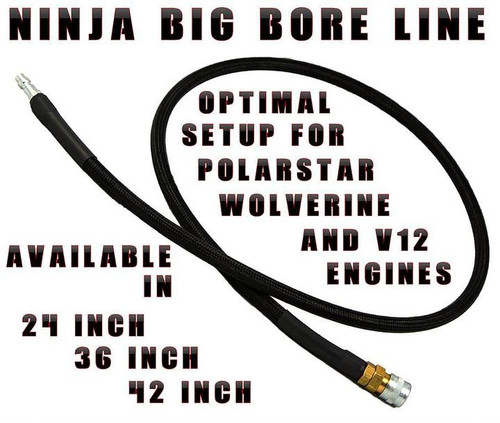 "Ninja 42"" Braided Big Bore Line, Female QD and Male QD, LPR42"