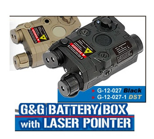 G&G PEQ Battery Box w/ Laser, Black  G-12-027
