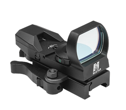 NcStar Red Dot 4 Reticle BLUE Reflex Sight, QR Mount, Black  D4BLQ