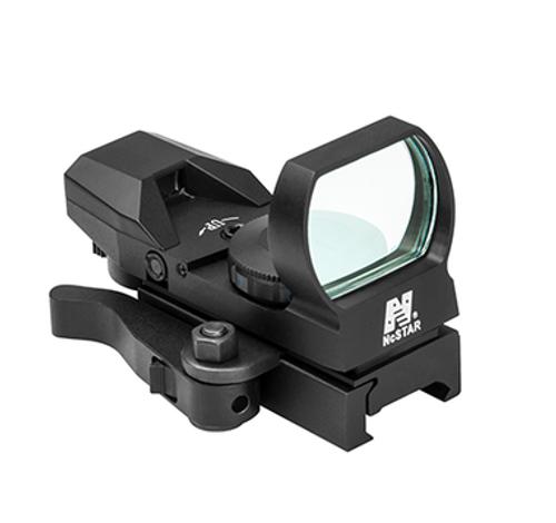 NcStar 4 Reticle RED LED Reflex SIght, QR Mount, Black  D4BQ