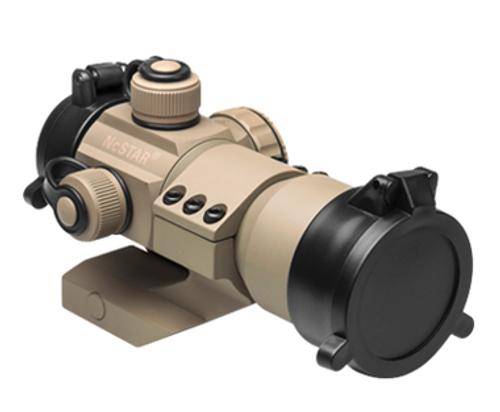 NcStar 35mm Red/Green/Blue Dot Sight w/ Cantilever Weaver Mount, Tan  DRGB135T