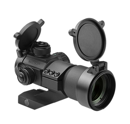 NcStar 35mm Red/Green/Blue Dot Sight w/ Cantilever Weaver Mount, Black  DRGB135