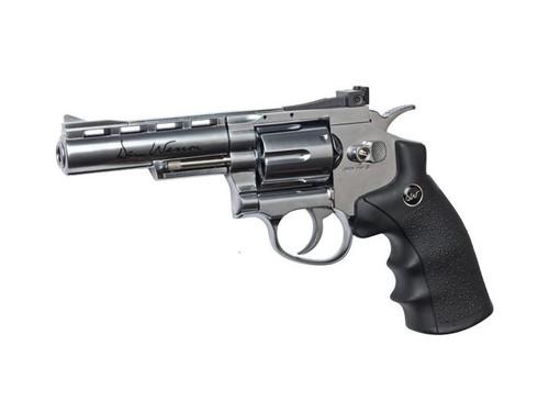 """ASG Dan Wesson 4"""" CO2 Non-Blowback Revolver, Silver     50034"""