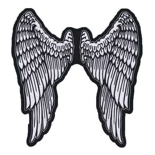 Angel Wings Lg Lethal Threat Patch