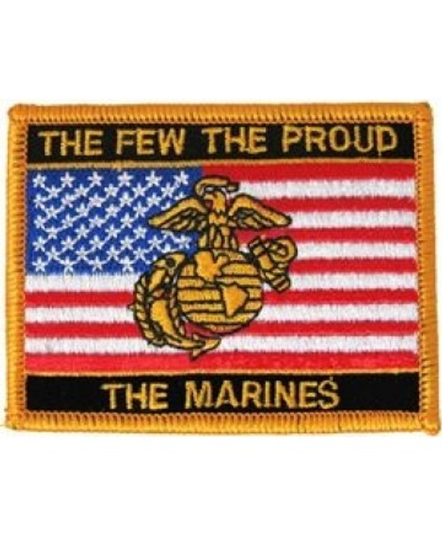 """The Few The Proud The Marines - 3""""x2.25"""" Patch"""