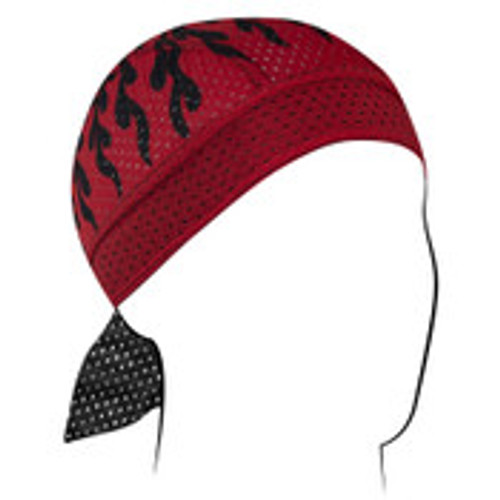 Vented Flames Red Headwrap