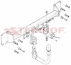 Detachable Tow Bar for Volvo S90 Saloon 2016 to present