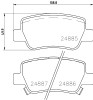 Rear Brake Pads & Discs for Toyota Avensis 2009 to 2019