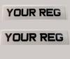 Number Plates | Metro Style | Set of 2 | Both White