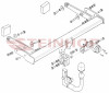 Detachable Tow Bar for Audi A4 2015 to 2019