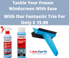Frozen Windscreen Essentials- De-Icer, Windscreen Additive & 3-in-1 Ice Scraper