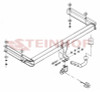 Tow Bar for Audi A6 Saloon for 2004 to 2011 models