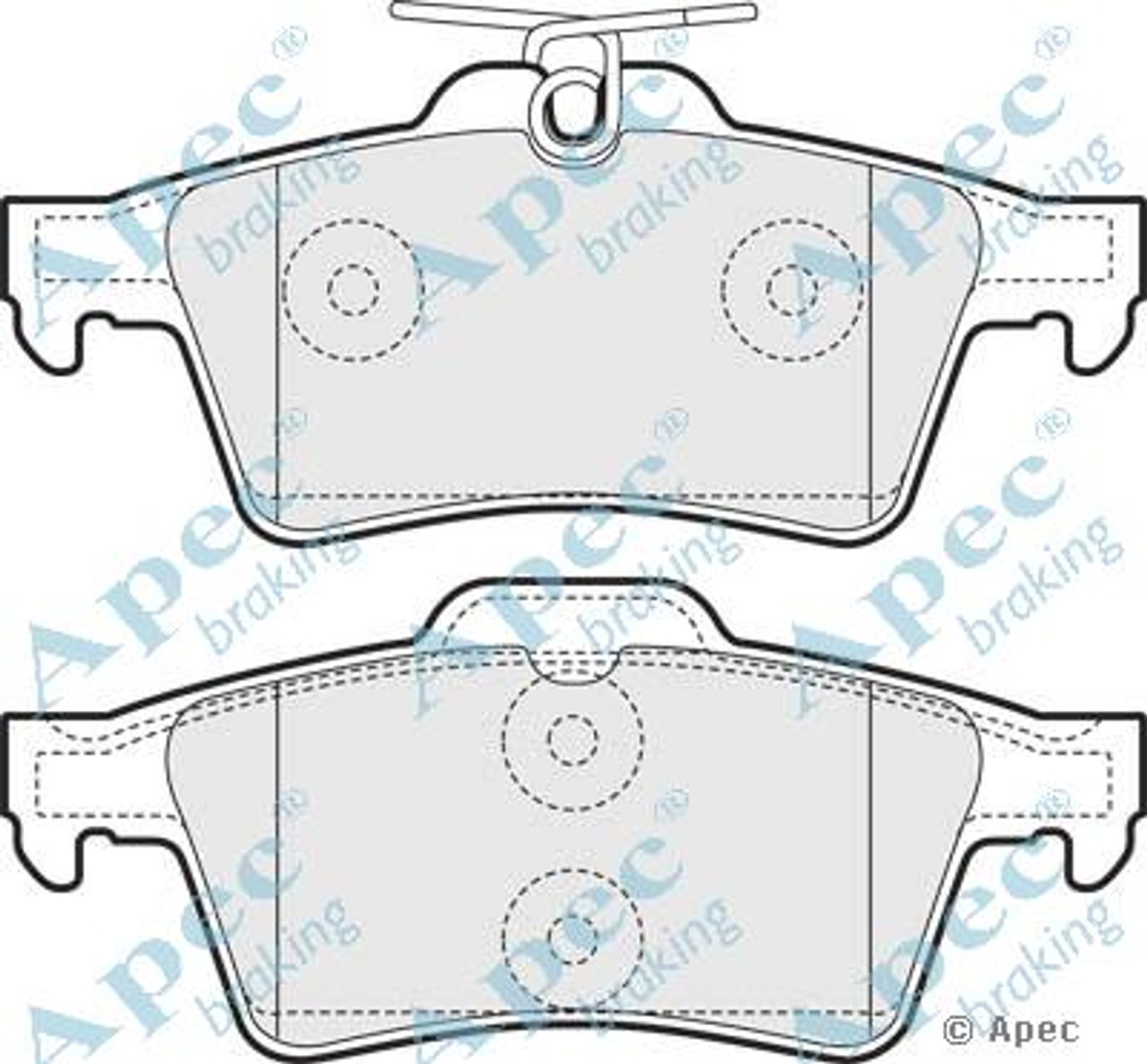 FORD Transit VAUXHALL Vectra Rear Brake Pads for FORD C-Max FORD Focus II