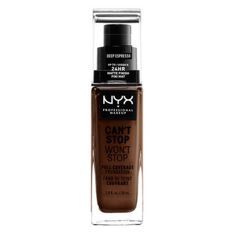 NYX Can't Stop Won't Stop Foundation - Deep Espresso