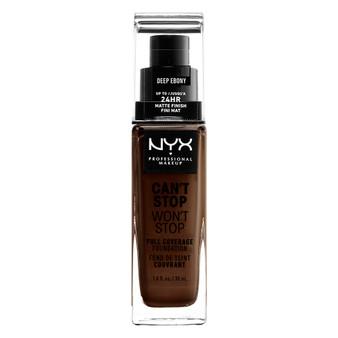 NYX Can't Stop Won't Stop Foundation - 25 Deep Ebony