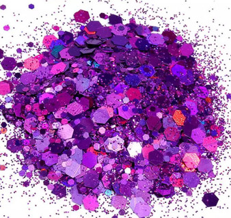 Chunky Holographic Glitter Mix - Amethyst