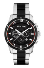 Police SHANDON Men's Quartz Watch Date Stainless Steel Band Black Dial - 15525JSTB/02M